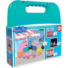 Maletin Puzzle Progresivo Peppa Pig