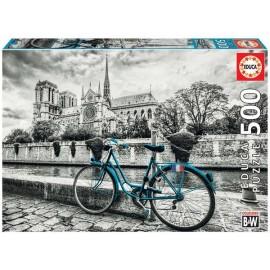Puzzle 500 Bicicleta cerca de Notredame