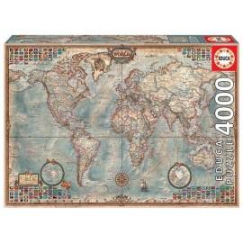 Puzzle 4000 El Mundo Mapa Politico