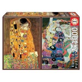 Puzzle 1000x2 El Beso + La Virgen