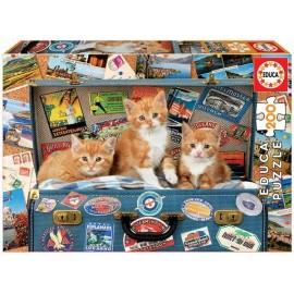 Puzzle 200 Gatitos Viajeros