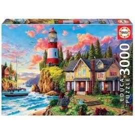 Puzzle 3000 Faro Cerca del Oceano