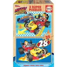 Puzzle 25x2 Mickey y los Superpilotos