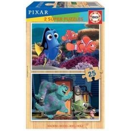Puzzle 25x2 Pixar Madera