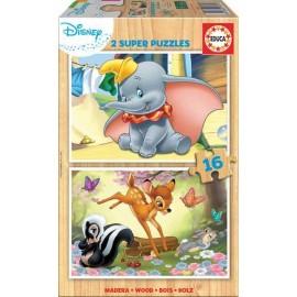 Puzzle 16x2 Disney Madera