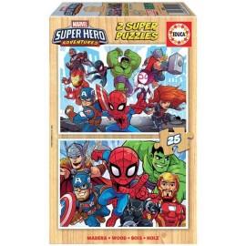 Puzzle 25x2 Marvel Madera