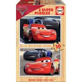 Puzzle 16x2 Cars Madera