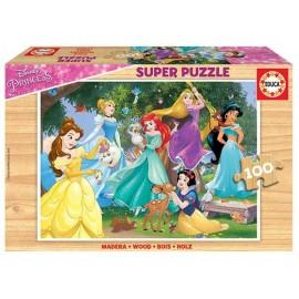 Puzzle 100 Princesas Madera