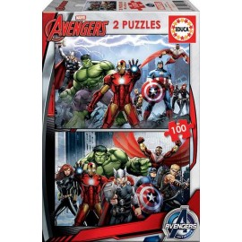 Puzzle 100x2 Avengers