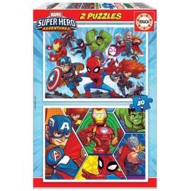 Puzzle 20x2 Marvel Super Hero