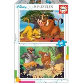 Puzzle 20x2 Disney Animlas