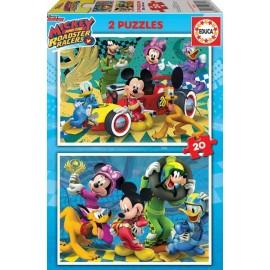 Puzzle 20x2 Mickey y los Superpilotos