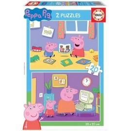 Puzzle 20x2 Peppa Pig