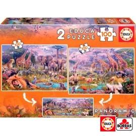 Puzzle 100x2 Animales Salvajes