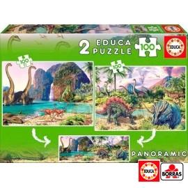 Puzzle 100x2 Dino World