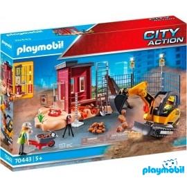 Set Mini Excabadora Playmobil