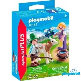 Niños con Ternero Playmobil