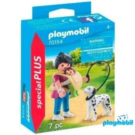 Mama con Bebe y Perro Playmobil