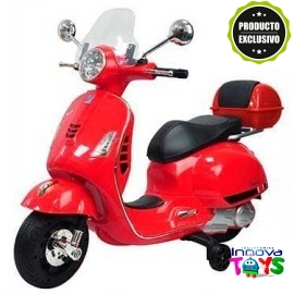 Moto Vespa GTS 12v. Roja