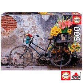 Puzzle 500 Bicicleta con Flores