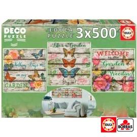 Puzzle 500x3 Jardin Campestre