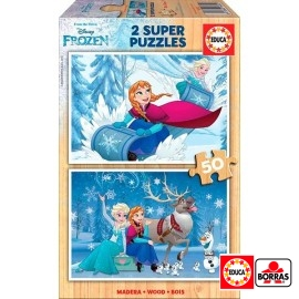 Puzzle 50x2 Frozen Madera