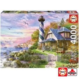 Puzzle 4000 Faro en Rock Bay