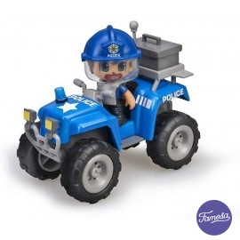 Pin y Pon Action Quad de Policia
