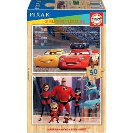 Puzzle 50x2 Cars e Increibles