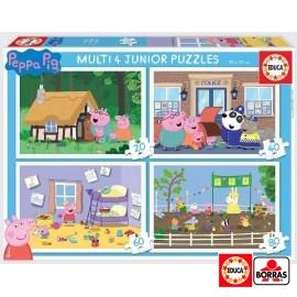 Puzzle 4 Junior Peppa Pig