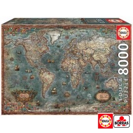 Puzzle 8000 Mapa Mundi
