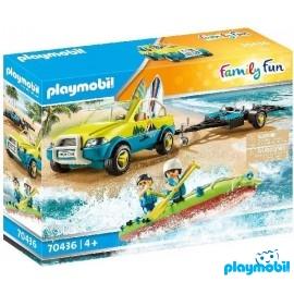 Coche de Playa con Canoa
