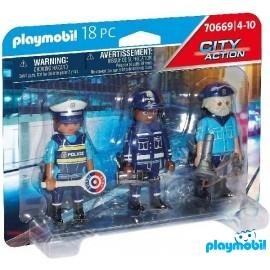 Blister 3 Figuras Policia