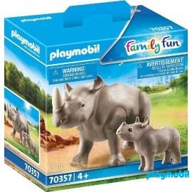 Rinoceronte con Bebe