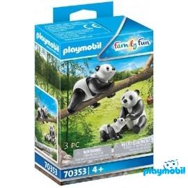 Pandas con Bebe Playmobil