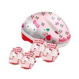 Casco Hello Kitty + Protecciones