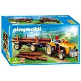 Playmobil Tractor con Leñador