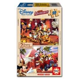 Puzzle 2x50 Mickey Adventures