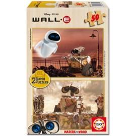 Puzzle 2x50 Wall-E Madera
