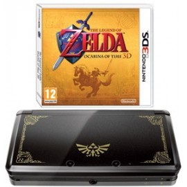 Nintendo 3DS Negra + Zelda Ocarina of Time