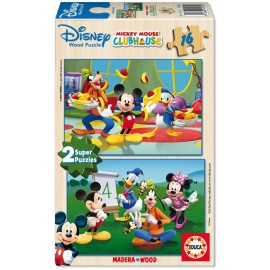 Puzzle 16x2 Mickey Mouse