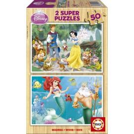 Puzzle 50x2 Princesas Disney