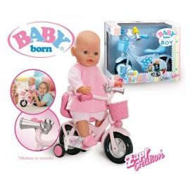Bicicleta para Baby Born Rosa