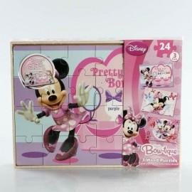 Puzzle 24x3 Madera Minnie