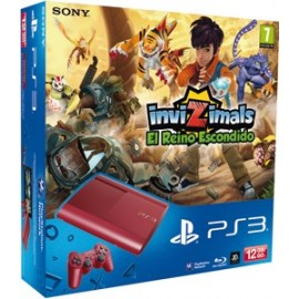 Playstation 3 Slim 12Gb. Roja + Invizimals