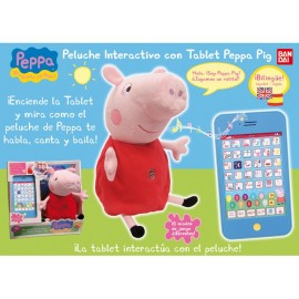 Peluche Interactivo con Tablet Peppa Pig